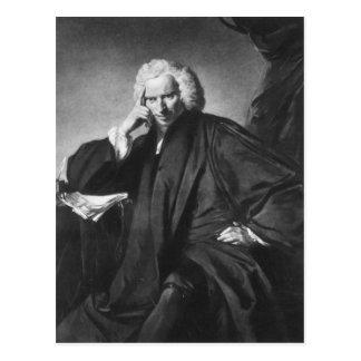 Laurence Sterne, graviert von Edward Fisher Postkarte