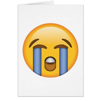 Laut schreiendes Gesicht - Emoji Karte