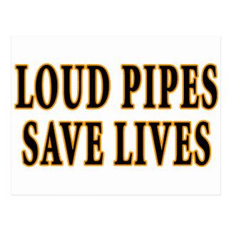 Laute Rohre retten die Leben Postkarte