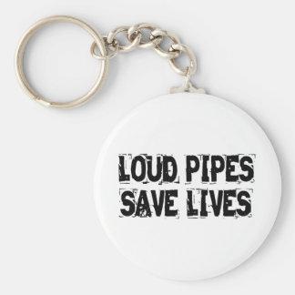 Laute Rohre retten die Leben Standard Runder Schlüsselanhänger