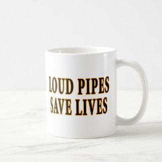 Laute Rohre retten die Leben Tasse
