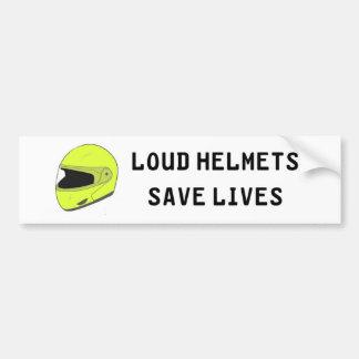 Laute Sturzhelme retten die Leben Autoaufkleber