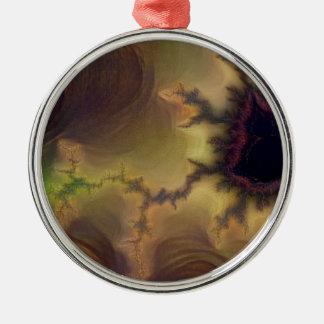 Lautes Summen Da Vincis Mandelbrot Silbernes Ornament