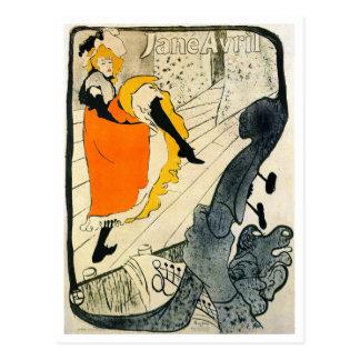Lautrec: Tanzen Jane-Avril Können-Kann Postkarte