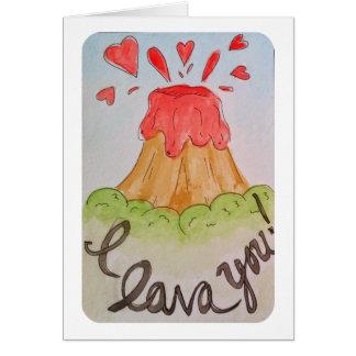 Lava I Sie i-Liebe Sie Watercolor Valentine Karte