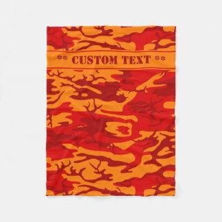 Lava-rote Camouflage mit kundenspezifischem Text Fleecedecke