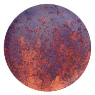 Lava-Spritzer Teller