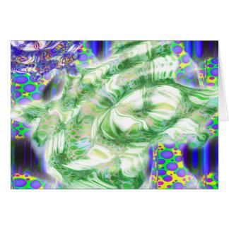 Lava träumt nukleare abstrakte Kunst Karte