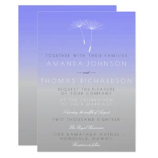 Lavanda lila grauer PastellOmbre Löwenzahn Karte