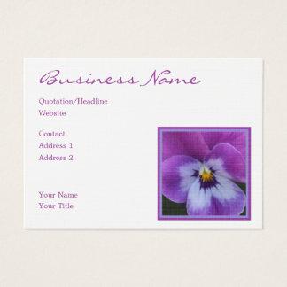 Lavendel5a lila blauer Pansy Visitenkarte