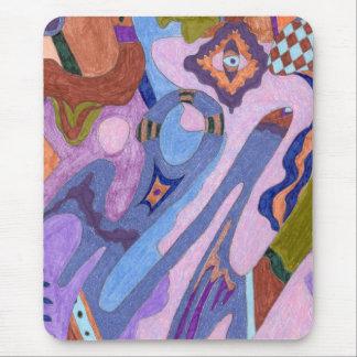 """""""Lavendel-"""" abstrakte Kunst Mauspads"""