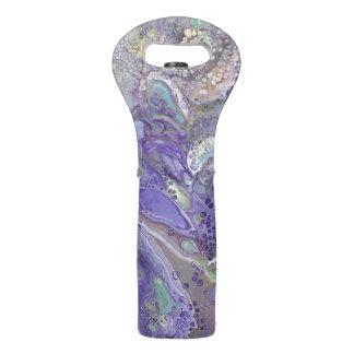 """Lavendel-abstrakte Wein-Tasche - """"Naomi """" Weintasche"""