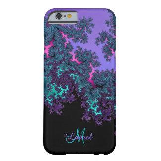 Lavendel-aquamarines Fraktal personalisierter Barely There iPhone 6 Hülle