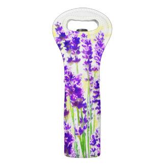 Lavendel-Aquarell Weintasche