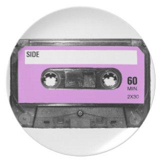 Lavendel-Aufkleber-Kassette Flache Teller