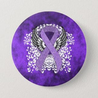 Lavendel-Band mit Flügeln Runder Button 7,6 Cm