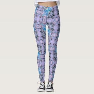 Lavendel-Beeren-geometrische Gamaschen Leggings