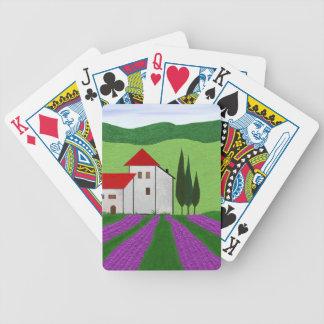 Lavendel Bicycle Spielkarten