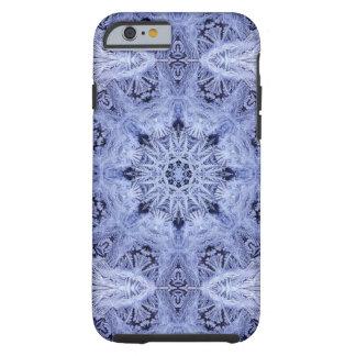 Lavendel-Blau-Schneeflocke Tough iPhone 6 Hülle