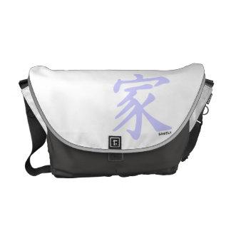 Lavendel-blaues chinesisches Familien-Symbol Kurier Taschen