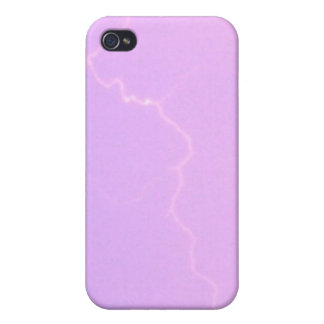 Lavendel-Blitz 4/4s iPhone 4 Schutzhüllen