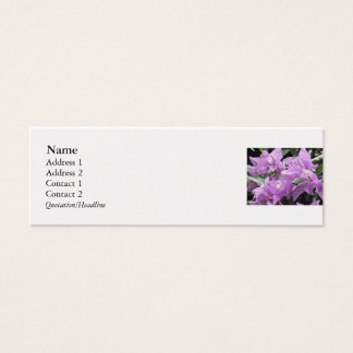 Lavendel-Blumen Mini Visitenkarte