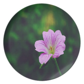Lavendel-Blumen mit Inspirational Zitaten Melaminteller