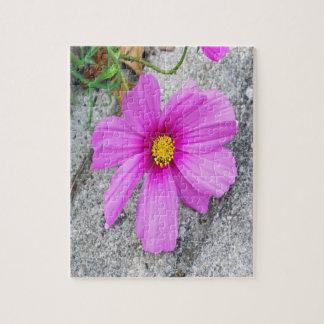 Lavendel-Blumen mit Inspirational Zitaten Puzzle