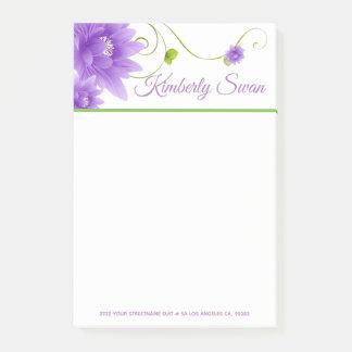 Lavendel-Blumen Post-it Klebezettel
