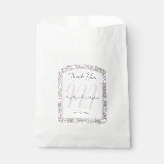 Lavendel-Blumendamast-Hochzeit Geschenktütchen