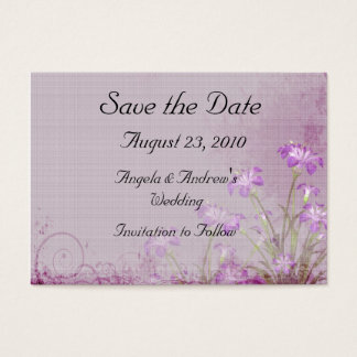 Lavendel-BlumenSave the Date Karte