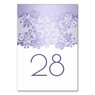 Lavendel-Blumenspitze-weiße Hochzeit Karte