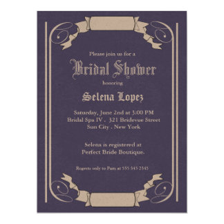 Lavendel-Brautparty-Einladungen 16,5 X 22,2 Cm Einladungskarte
