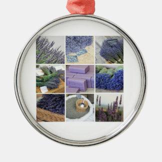 Lavendel-Collage durch ProvenceProvence Silbernes Ornament