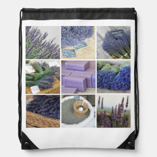 Lavendel-Collage Sportbeutel