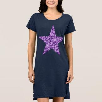Lavendel-Diamant-Stern Kleid