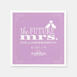 Lavendel die zukünftige Frau Brautparty Papierservietten