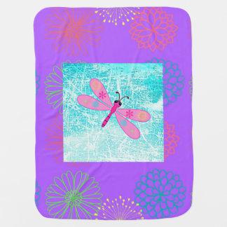 Lavendel-Drache-Fliege Kinderwagendecke