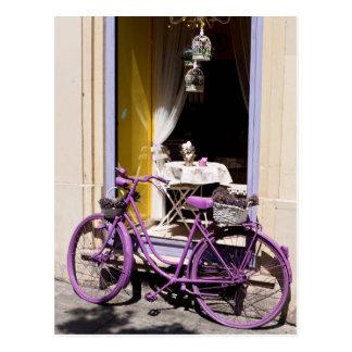 Lavendel-Fahrrad Postkarte