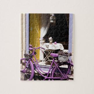 Lavendel-Fahrrad Puzzle