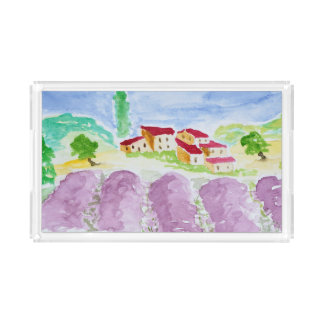 Lavendel fängt Abbaye de Senanque | Provence auf Acryl Tablett