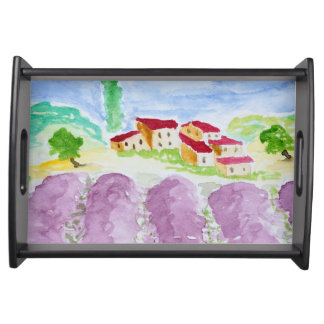 Lavendel fängt Abbaye de Senanque | Provence auf Serviertablett