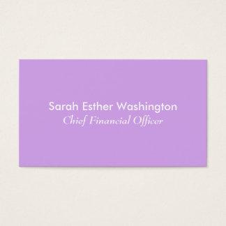 Lavendel-Farbe Visitenkarte