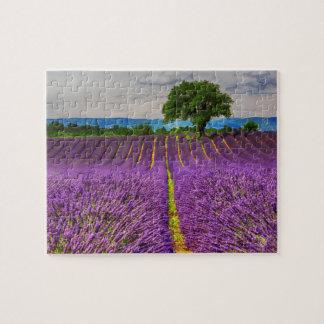 Lavendel-Feld landschaftlich, Frankreich Puzzle