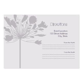 Lavendel-Flora Jumbo-Visitenkarten