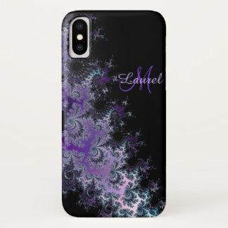 Lavendel-Fraktal-Schärpe personalisierter iPhone X iPhone X Hülle