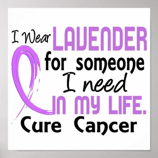 Lavendel für jemand benötige ich General Cancer Plakatdrucke