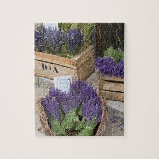 Lavendel für Verkauf, Provence, Frankreich Puzzle