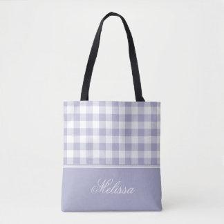 Lavendel-Gingham | personalisiert Tasche