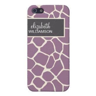 Lavendel-Giraffe Pern iPhone 5 Case